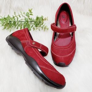 Ariat Mary Jane Shoes Red Leather Merritt 6 B
